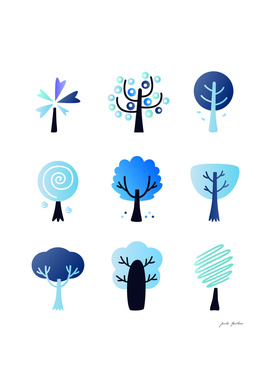 New fresh winter trees / New design in shop