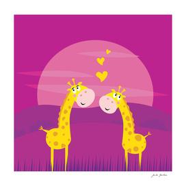 2 giraffe in LOVE : Original art