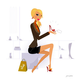Shopping lady : stylish design in shop