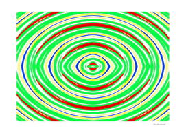 green red yellow and blue circle line drawing abstract