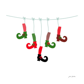 New art in Shop : witch legs. Red and green