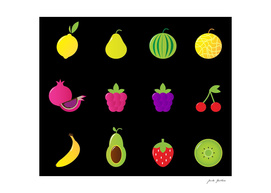 Black fruity collection : New art in shop