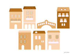 Creative italy handdrawn houses
