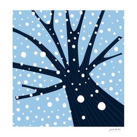 New art in design shop : Snowing tree