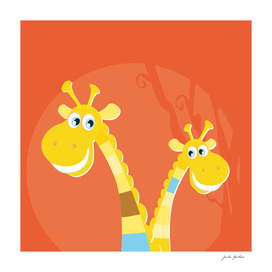 Two hand-drawn Giraffe : New in shop