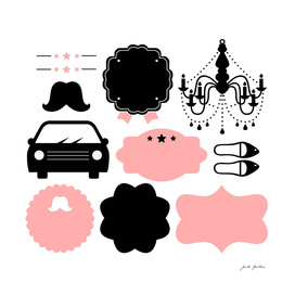 Vintage iconology : black and pink 60s edition