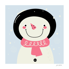 New stylish snowman in shop