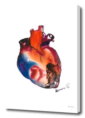 Blue Anatomical Heart