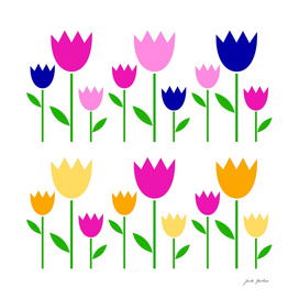 Spring flowers art collection