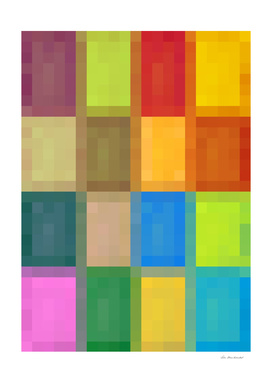 colorful geometric square pattern pixel abstract