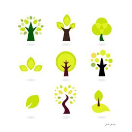 New original design : Hand-drawn trees