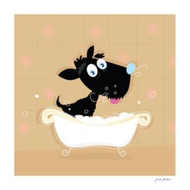 New hand-drawn cute Dog : black edition