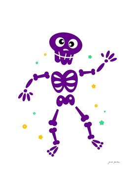Vintage purple Skeleton / Kids design