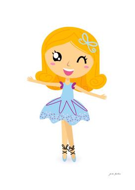 New vintage balerina : soft Blue