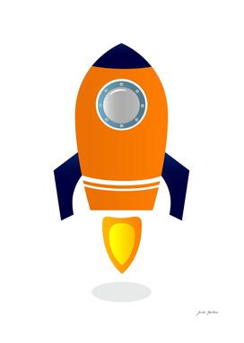 New in shop : Creative stylish Rocket / orange blue