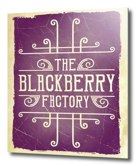 The Blackberry Factory Typographic Steampunk Art