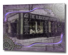 The Blackberry Factory Scene Steampunk Art