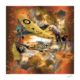 World War 2 Aerial Fighter Plane Dogfight