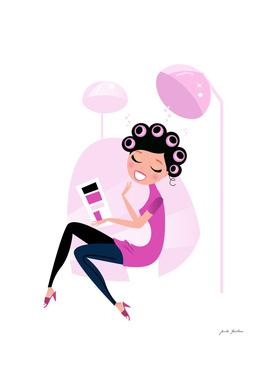 Creative wellness girl : Pink