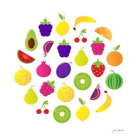 New fruity circle on white