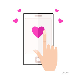 New heart shaped art / mobile Device