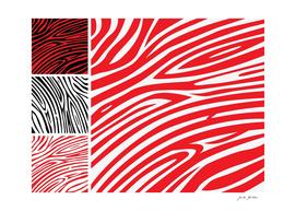 Red zebra stylish drawing