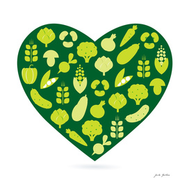 BIO vegetable heart / Green art edition