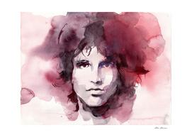 Jim Morrison Watercolor Painting