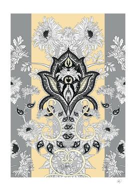 Paisley flower art print