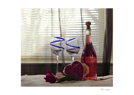 Wine, Chocolate's and Roses