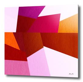 Geometric Rocks - Red & Pink