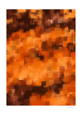 geometric square pattern painting abstract in brown