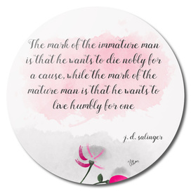 The mature man
