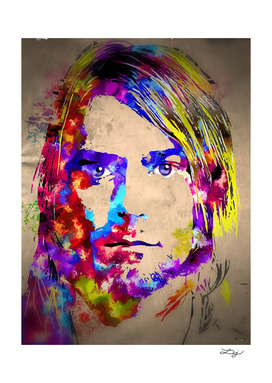 Kurt Cobain Painted