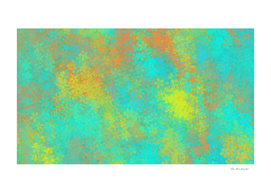 flower pattern abstract background in blue yellow orange