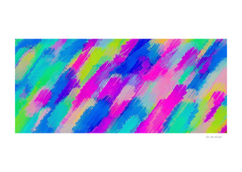 blue pink yellow green painting abstract background
