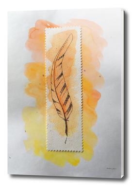 The orange feather