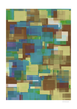 brown yellow and blue square pattern background