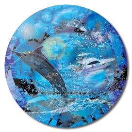 Marlin Fishing 3D Digital Water Design