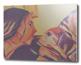 Loving Beagle
