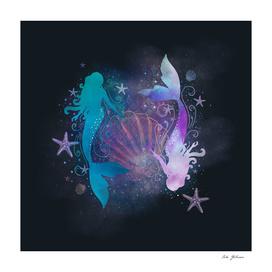 mermaids blue & purple