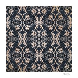 Baroque grunge pattern