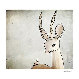 Simple Modern Digital Pop Art Elegant Antelope