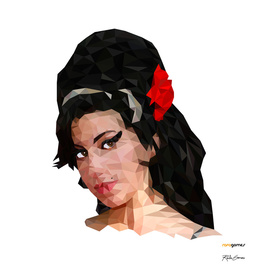 Amy Winehouse Low Poly