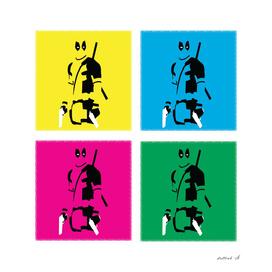 Deadpool in colors.