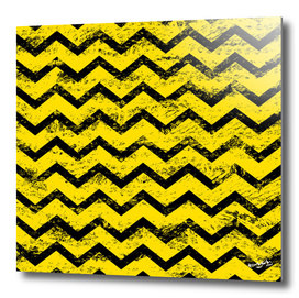 Yellow and black chevron
