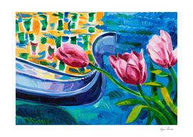 Tulips and gondola