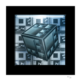 Steel Blue Techno Cube