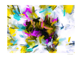 pink yellow blue black abstract painting background
