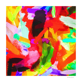red orange blue green purple painting texture